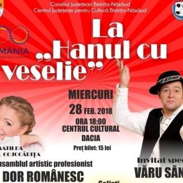 """Vărul Săndel, la Bistrița, într-un spectacol de folclor extraordinar, alături de ansamblul """"Dor Românesc"""""""