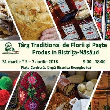 """Târgul tradițional de Florii și Paște """"Produs în Bistrița-Năsăud"""", de mâine, în Piața Centrală!"""