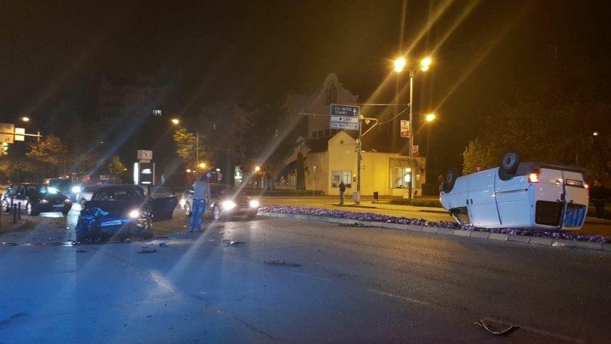 FOTO/VIDEO: Accident în fața Prefecturii! Impact deosebit de puternic!