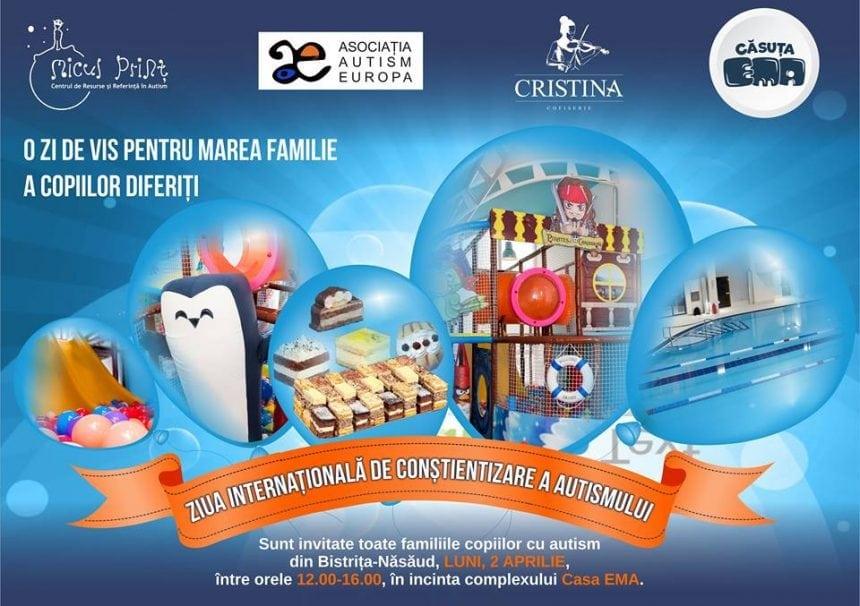 O zi de vis pentru familiile copiilor cu autism, în 2 aprilie, la Bistrița
