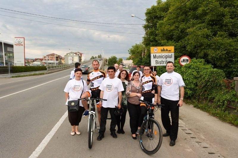 Ștafeta Ciclistă SM 2018 la Bistrița! Sute de mesaje de încurajare și concerte hip-hop la Palatul Culturii