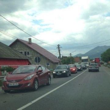 FOTO: Probleme în trafic, în Mureșenii Bârgăului