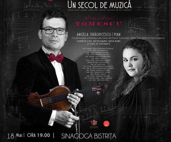 VIDEO: Alexandru Tomescu, cel mai cunoscut și îndrăgit violonist român, susține vineri, la Bistrița, un concert de excepție!