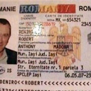 Falsificatorul buletinului lui De Niro, prins și încarcerat la Bistrița