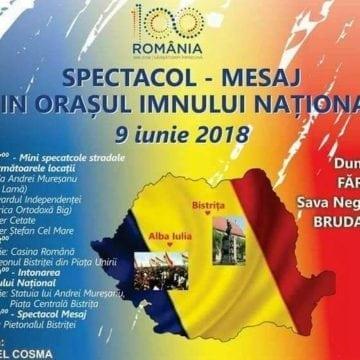 BISTRIȚA: Glasul Unirii, spectacol-mesaj din orașul imnului național