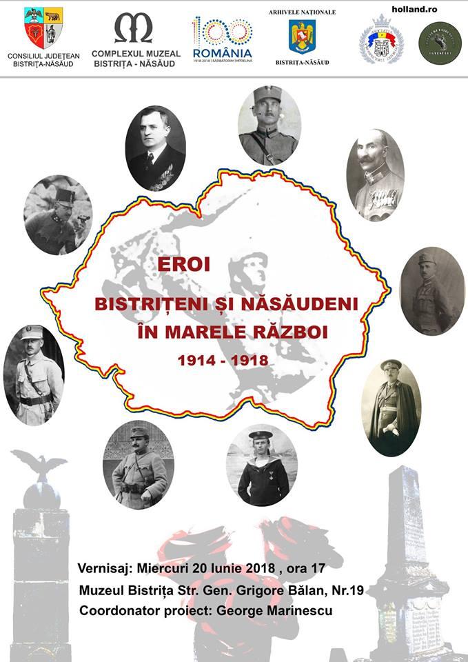 Eroi bistriţeni şi năsăudeni în Marele Război