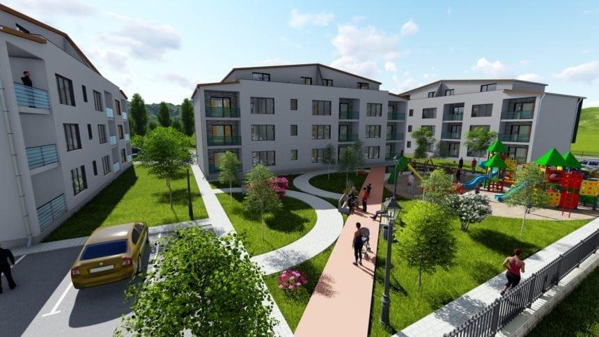AMICII ridică un ansamblu rezidențial la Bistrița! 33 de apartamente spațioase, luminoase și o grădiniță veselă