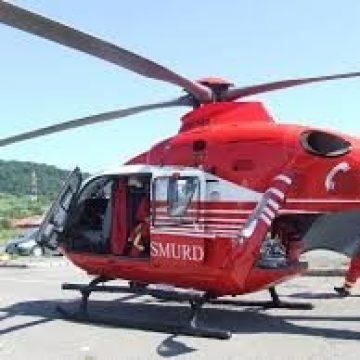 Elicopterul SMURD chemat pentru una dintre victimele accidentului de la Dobric