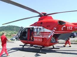 S-a răsturnat cu tractorul! Elicopterul SMURD chemat în ajutor
