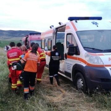 Tânărul accidentat, ieri, pe un câmp din Șieu Sfântu a murit