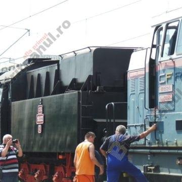 FOTO/VIDEO:  O apariție din altă lume – în Gara din Bistrița!