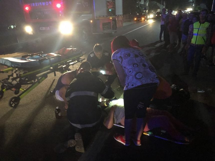 FOTO – O femeie a fost lovită de o mașină pe trecerea de pietoni, în Rebrișoara