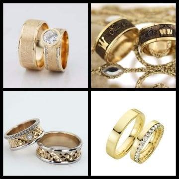 VERIGHETE din aur, cu diamante sau lucrături fine în diverse culori, găsești în stoc la Atlantis Gold