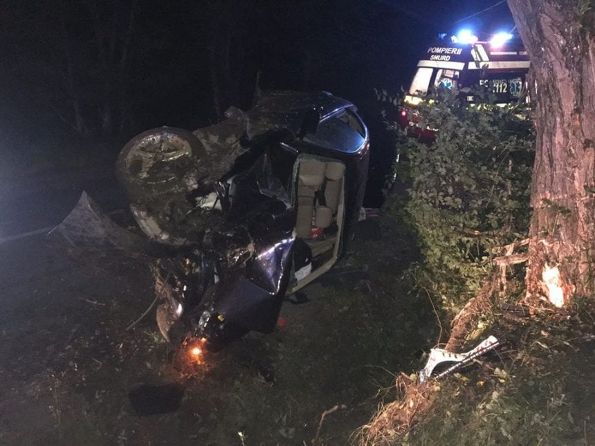 FOTO – Trei accidente într-o singură noapte, două în același loc