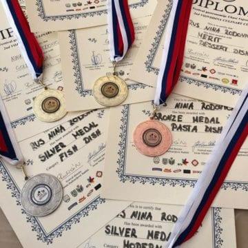 FOTO – Nina Rus: Concursul din Serbia, cel mai greu de până acum, deși am cucerit trei medalii de aur