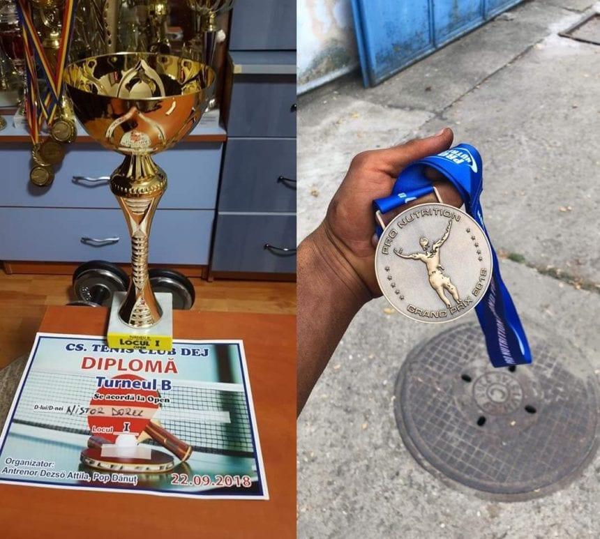 FOTO: Avem cu ce ne mândri! Doi jandarmi bistrițeni, locurile I la culturism și tenis de masa