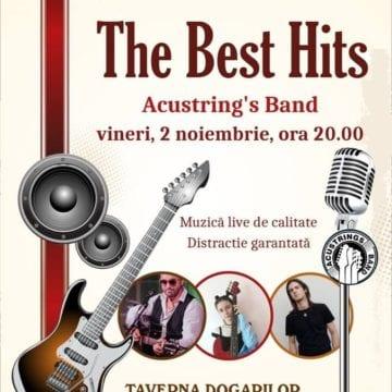 Cele mai cunoscute hituri răsună vineri, la Taverna Dogarilor! Acustring's Band promite o seară de neuitat!