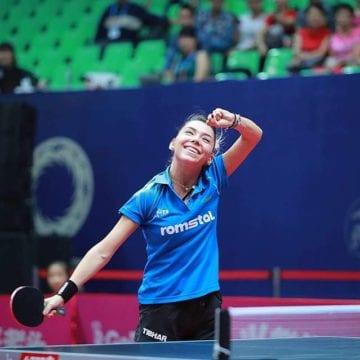 O sportivă formată și pregătită la Bistrița, în primele 15 cele mai bune jucătoare de tenis de masă ale lumii!