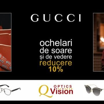 Q Vision anunță reduceri de 10% la ochelarii Gucci de vedere și de soare! AFLĂ 10 lucruri de știut despre celebrul brand!