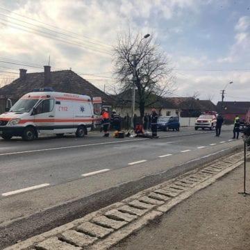 FOTO/VIDEO: Un bistrițean a accidentat mortal un pieton, în Cuzdrioara