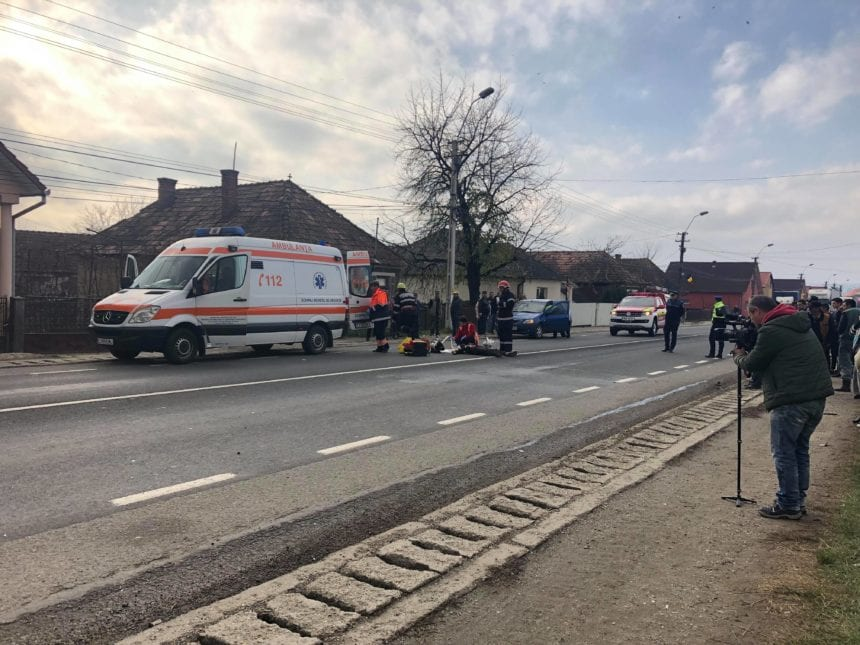 FOTO/VIDEO: Un bistrițean a accidentat mortal un pieton, în Cuzdrioara