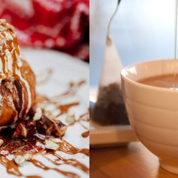 Măr copt, cu nuci și caramel și ceaiuri cu arome asiatice, numa' bune pentru vremea de afară! La Gelateria Aniela