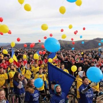 FOTO/VIDEO:  100 de copii au străbătut pe biciclete Drumul Unirii…!