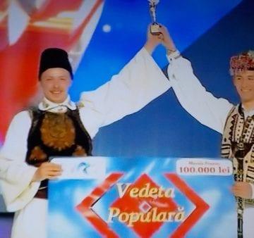 FOTO/VIDEO:  Ce cadou frumos de Crăciun pentru Bistrița-Năsăud! Vlăduţ Sărmaş este VEDETA populară a României în 2018!
