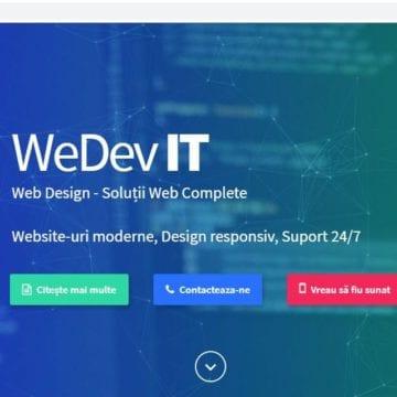 Ai nevoie de un website?! WEDEV IT din Cluj-Napoca îți oferă o garanție de 200%!