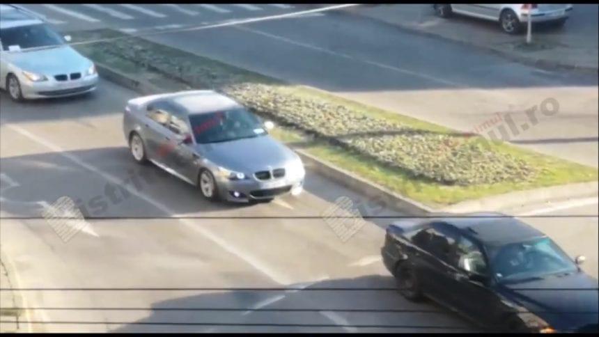 FOTO/VIDEO: Zeci de BMW-uri au condus trupul lui Andrei, de la morgă la capelă
