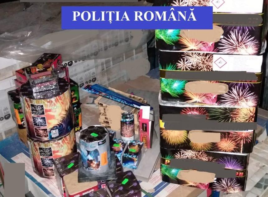 Peste 700 de kg de artificii și petarde confiscate de polițiști