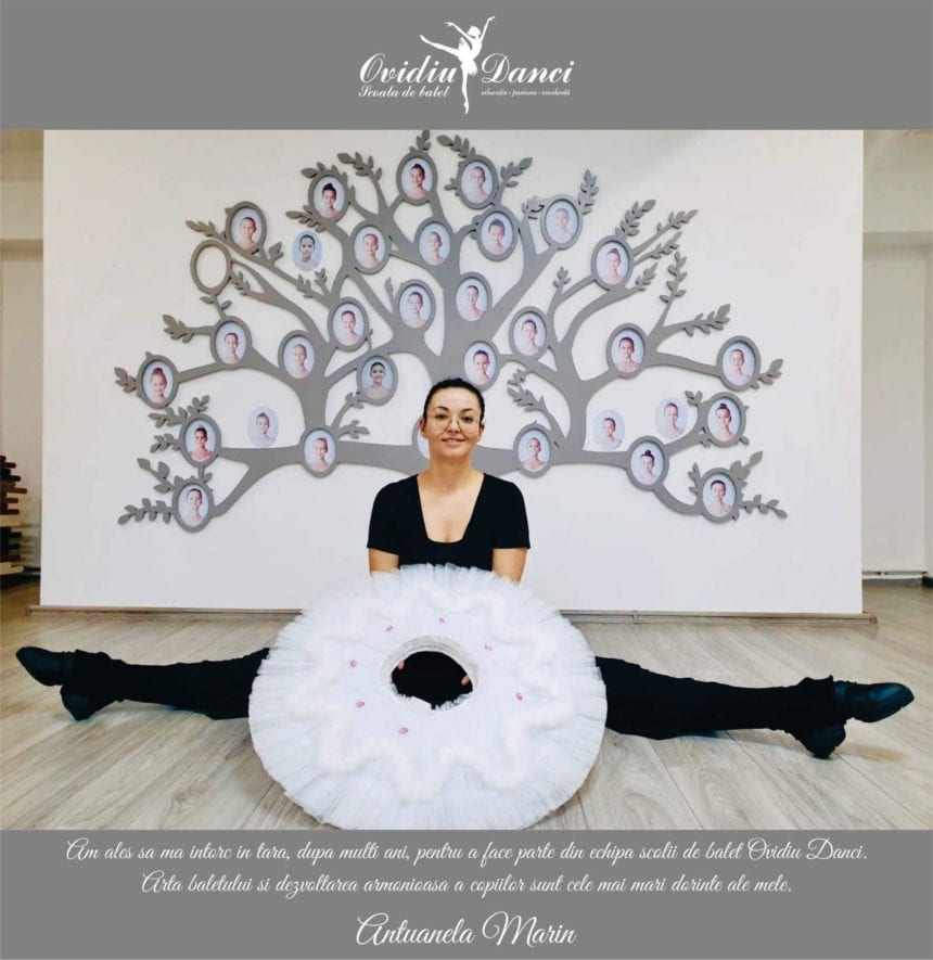 Balerina care a renunțat la lumea Disney pentru a preda balet, acasă, la Bistrița, alături de Ovidiu Danci