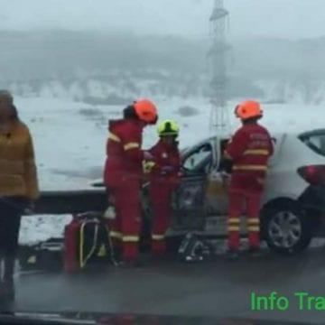 FOTO/VIDEO:TIR-ul unei firme bistrițene, implicat într-un grav accident pe centura Apahida