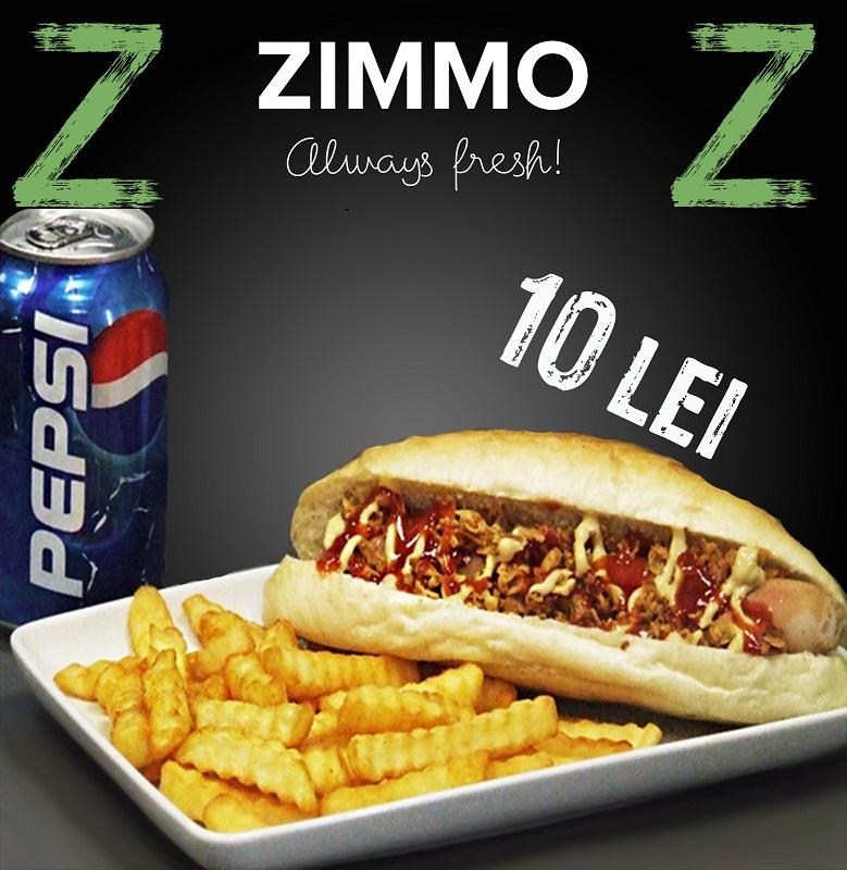 Zimmo îți aduce gustul autentic american și alte noi specialități la prețuri mici, mici!