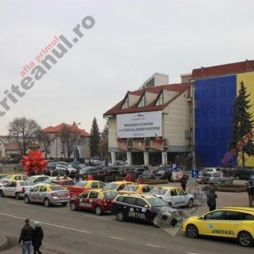 FOTO: Protest al taximetriștilor! Ce-i supără și ce vor:
