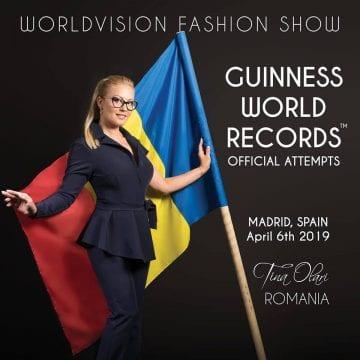 VIDEO. Record: Designerul Tina Olari, strălucitoare într-o spectaculoasă paradă de modă, la Madrid!
