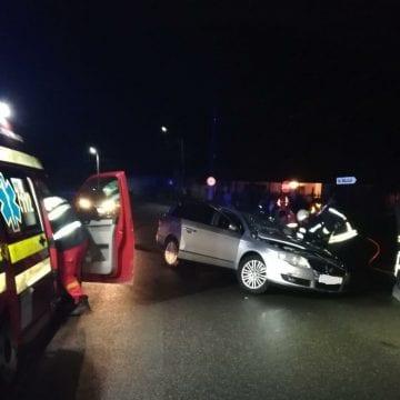 Accident grav în Sîngeorz Băi: S-a oprit cu mașina într-un stâlp!