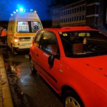 FOTO – O șoferiță începătoare a lovit un adolescent pe trecerea de pietoni