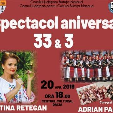 EXTRA: Spectacol aniversar 33 & 3, sâmbătă, la Bistrița!