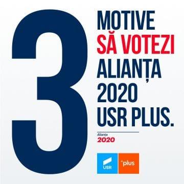 3 motive să votezi Alianța 2020 USR PLUS