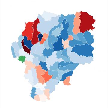EXCLUSIV: Harta votului în Bistrița-Năsăud – rezultate parțiale