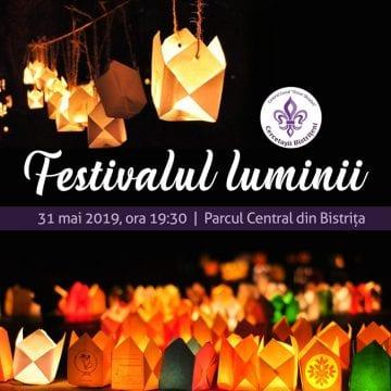 Cercetașii Bistrițeni: Festivalul Luminii, vineri, în parcul municipal!