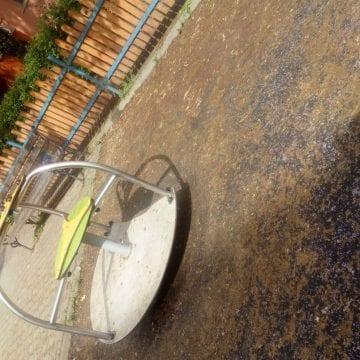 FOTO: Ce au mai lăsat ploile în urmă? Putoare și șobolani morți la spațiile de joacă!