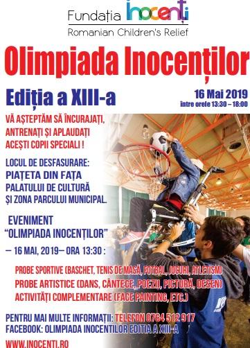 Invitați speciali și multe surprize joi, la Bistrița, la Olimpiada Inocenților!