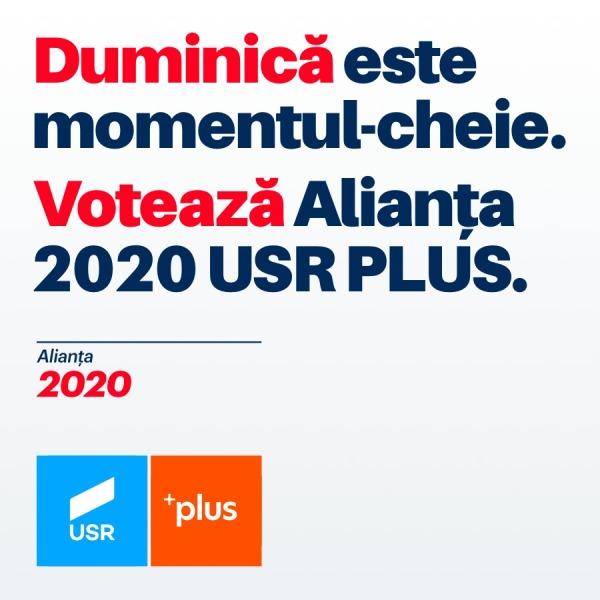 Alianța 2020 USR Plus: Viitorul României este în Europa!