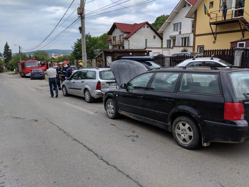 FOTO: Accident în lanț pe Dealul Jelnei