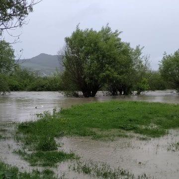 FOTO/VIDEO: Inundații în câteva localități în urma ploii care s-a abătut asupra județului