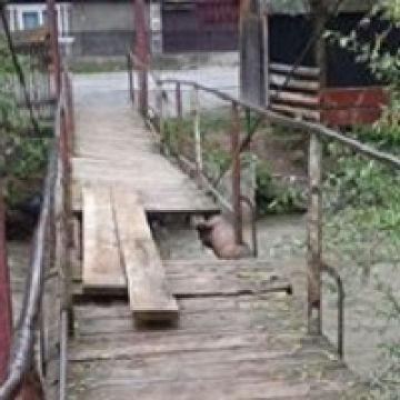 CE soluție s-a găsit pentru puntea din Rodna: