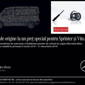 Materom Automotive: Piese de origine pentru Sprinter și Vito la un preț special
