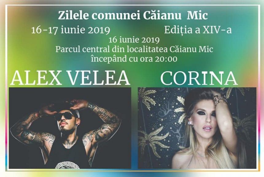 Alex Velea și Corina cântă la Zilele comunei Căianu Mic!